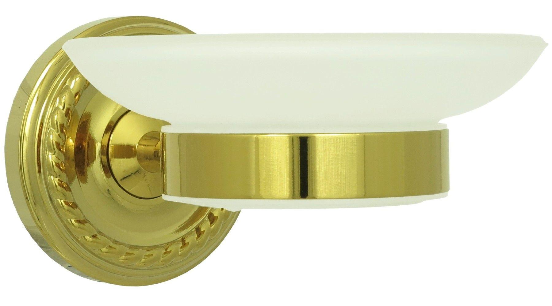 Retro Seifenschale Seifenablage Seifenhalter Milchglas Schale Gold 9004 |  Dirks Traumbad