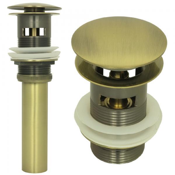 Ablaufventil Ablaufgarnitur Pop Up Ablauf Abfluss mit Überlauf Bronze