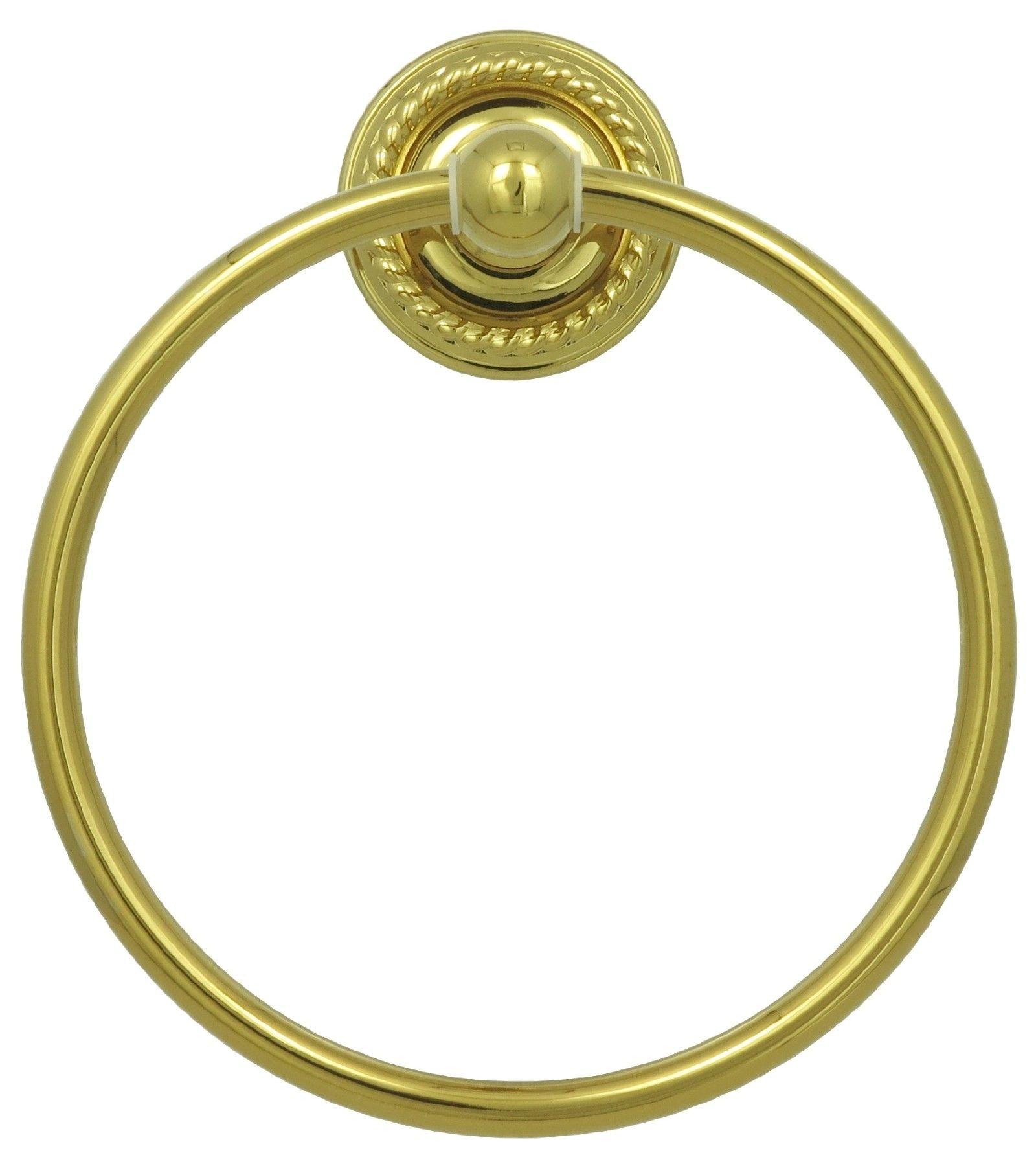 Vintage Handtuchring Retro Handtuchhalter Ring in Gold