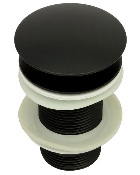 Ablaufventil ohne Überlauf Ablaufgarnitur Pop Up Ventil Messing Schwarz