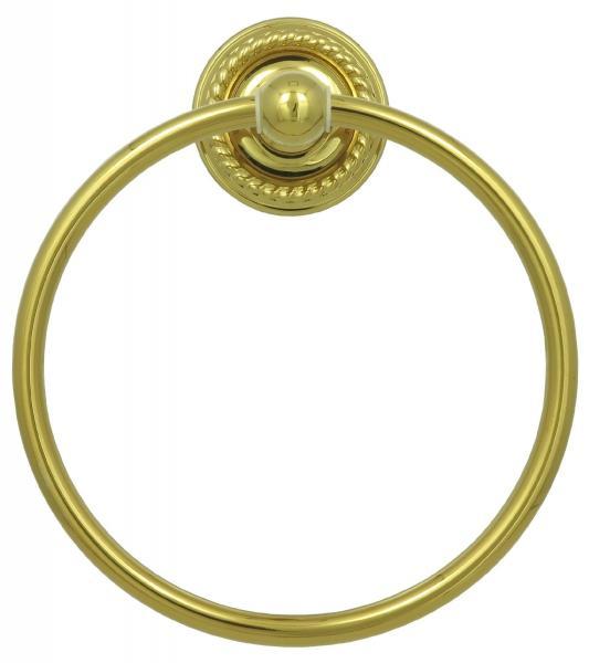 Handtuchring Gold Handtuchhalter Ring mit 17cm Durchmesser Vintage 9007