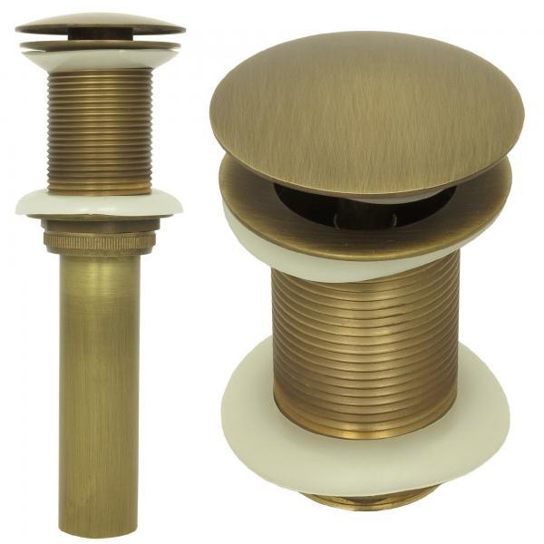 Ablaufventil ohne Überlauf Ablaufgarnitur Pop Up Ventil Messing Antik