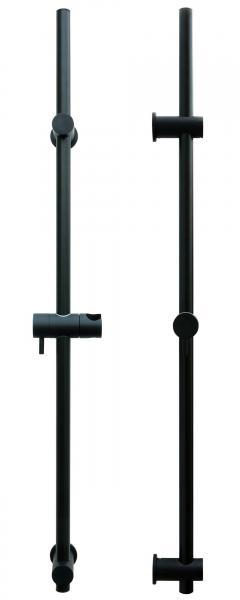 Brausestange variabel Duschstange mit verstellbarem Brausehalter Schwarz S80